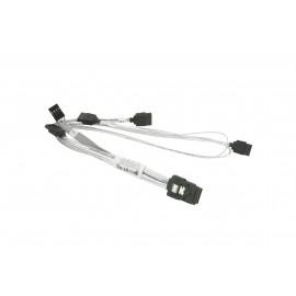Kabel Supermicro MiniSAS-4xSATA 46/33/23/13cm z kablem Sideband 15cm
