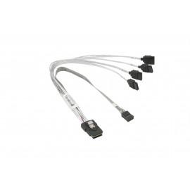 Kabel Supermicro MiniSAS-4xSATA 23cm z kablem Sideband 25cm