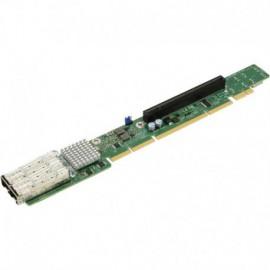 1U Ultra Riser 2-port 25GbE SFP28 Mellanox ConnectX-4 Lx EN, 1 PCI-E 3.0 x16 (internal), 4 NVMe ports.