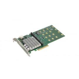 Karta nośna Supermicro PCI-E 3.0 dla 4 dysków M.2 AOC-SHG3-4M2P