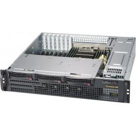 Black 2U SC825MB COMPACT SAS3 LP CSE w/ Redundant 800W