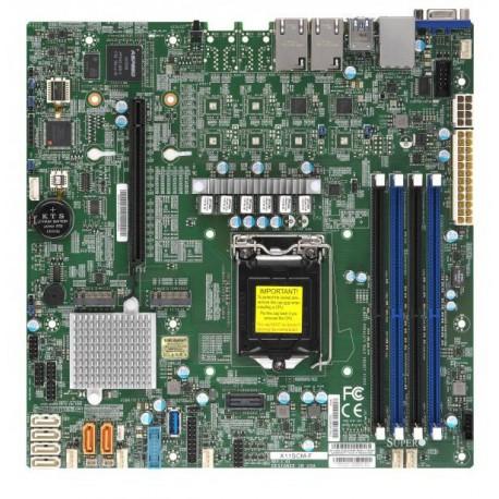 X11SCM-F SKT LGA1151,C246 chipset,4x DDR4 2666 MHz ECC UDIMM,2x1G