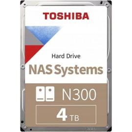 Toshiba HD3.5 cala SATA3 4TB N300 7.2k/Bulk