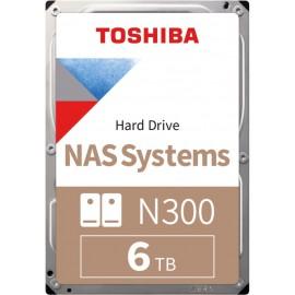 Toshiba HD3.5 cala SATA3 6TB N300 7.2k/Bulk